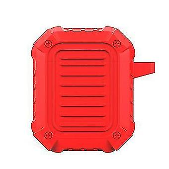 Speaker bags  covers cases hard silicone protective shell for airpods with hook 4.8*2.7*6Cm red