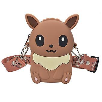7 types de monstres Pikachu Silicone Messenger Bag Mignon Coin Purse Mode Anime Personnage Sac à bandoulière / enfants Cadeau