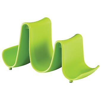 Hutzler Kitchen Cooking Compact Pot Lid Stand Holder Spoon Rest - Green
