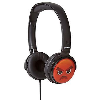 Groov-e EarMOJI Kids Headphones 1,2 M cordon visage fâché (modèle No. GVEMJ16)