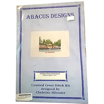 Linlithgow Basin, Union Canal Cross Stitch Kit by Abacus Designs