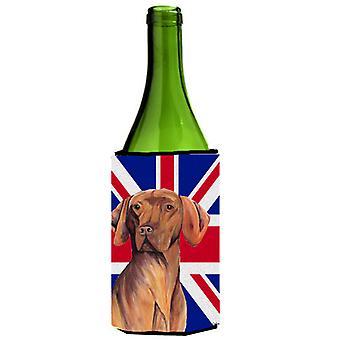 Vizsla con inglese Union Jack bandiera britannica bottiglia di vino bevanda isolante Gianluca
