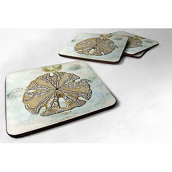Carolines Treasures  SB3026FC Set of 4 Sand Dollar  Foam Coasters