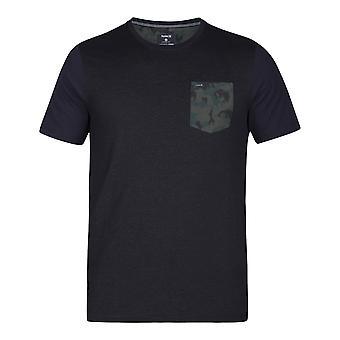 Hurley Dri-Fit Lagos camiseta de manga corta de bolsillo en negro