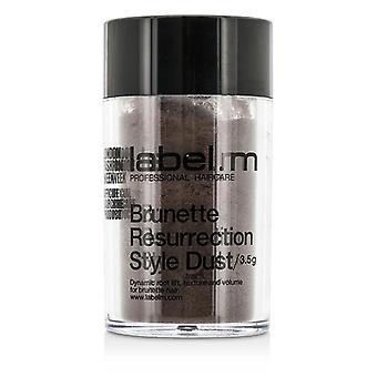 Label.m Brunette Resurrection Style Dust (dynamic Root Lift Texture And Volume For Brunette Hair) - 3.5g/0.12oz