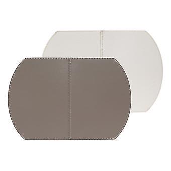 Vrije vorm één opvouwbare Placemat, Taupe en wit