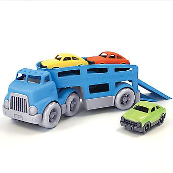 Green Toys Car Carrier with Working Ramps & 3 Mini Cars Eco Friendly BPA Free
