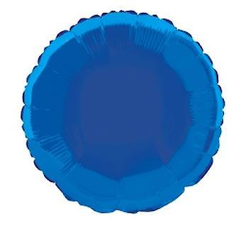 Folie ballon rond solide metalen Royal blauw