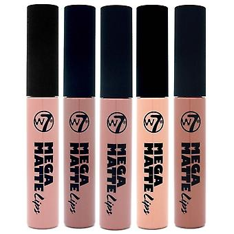 W7 Mega Matte Lip Gloss 6,5 ml todas nuas as máscaras (5-Pack)