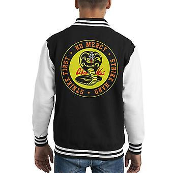 Cobra Kai Schlange Logo keine Barmherzigkeit Kid Varsity Jacket