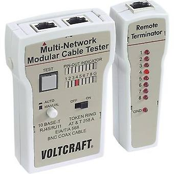 Cable tester VOLTCRAFT CT-2 Suitable for RJ-45, BNC, RJ-11