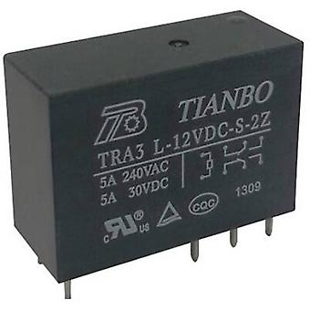 Tianbo Electronics TRA3 L-5VDC-S-2Z PCB relay 5 V DC 8 A 2 change-overs 1 pc(s)