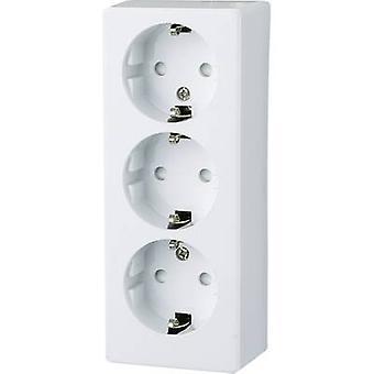 GAO 0306 3 x Surface-mount socket kindveiligheid Polar white