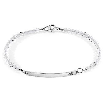 Anchor & Crew Clear Rock Crystal Purity Silver and Stone Bracelet