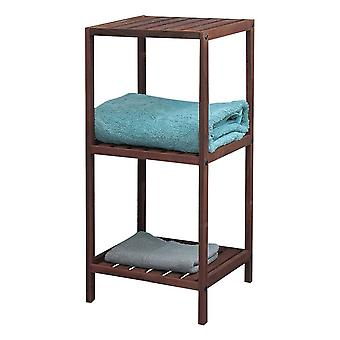 Knight Pippa 3 Tier Wooden Shelf Dark Colour Easy to Store, Sturdy and Durable