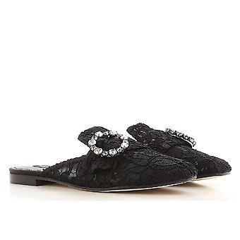 Dolce&Gabbana women's close slippers in black satin
