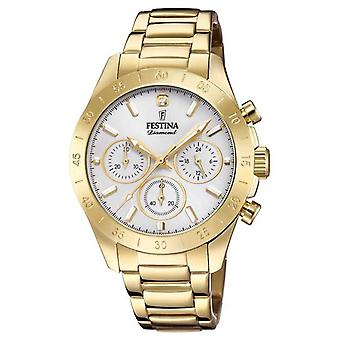 Festina Womens Boyfriend Chronograph Gold PVD F20400/1 Watch