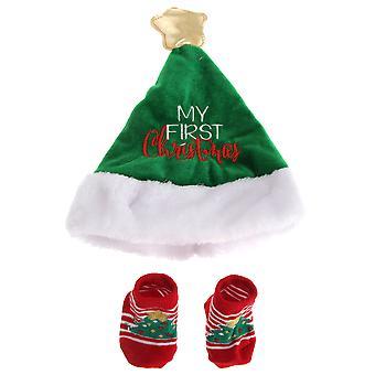 Škôlka čas Baby Boys/Girls vianočné klobúk & ponožky GIFTSET