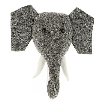 Fiona Walker England Big Felt Elephant Head Coat Hook