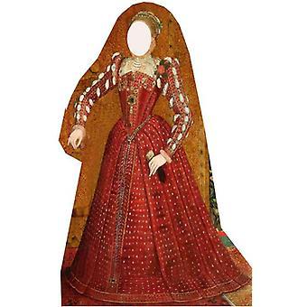 Tudor nainen kantaa-Lifesize pahvi automaattikatkaisin / seisoja