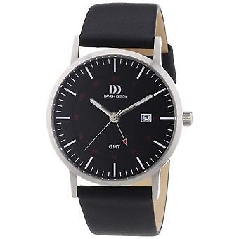 Dansk Design 3314447-mænds armbåndsur, læder, farve: sort