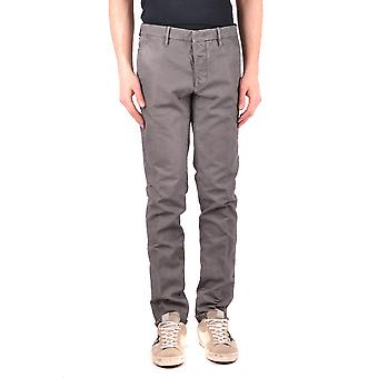Incotex Ezbc093040 Men's Grey Cotton Pants