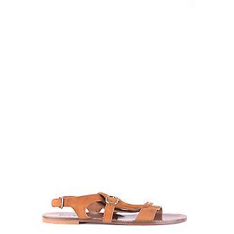 Doucal's Ezbc089016 Women's Brown Suede Sandals