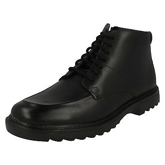 Boys Clarks Smart Ankle Boots Asher Street
