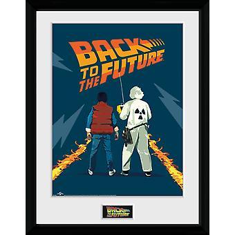 """Tillbaka till framtida Doc och Marty Collector skriva ut 16 x 12 """"-41x30.5cm"""