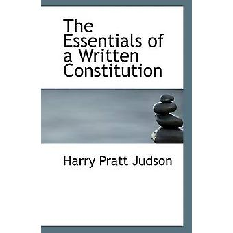 The Essentials of a Written Constitution by Harry Pratt Judson - 9781