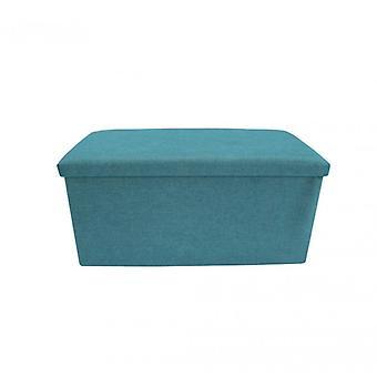 Meubles Rebecca Puff Rectangle bleu bleu objets Tissu 38x76x38