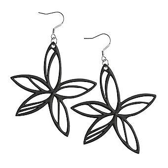 Batucada Skin Jewellery Black Hawaii Earrings 4-01-03-01-Black