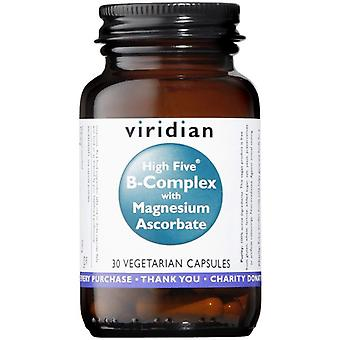 Viridian HIGH FIVE B-Complex/Mag Ascorbate Veg Caps 30 (250)