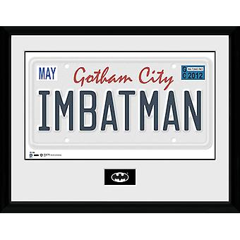Batman registreringsskylt inramade Collector Print 40x30cm