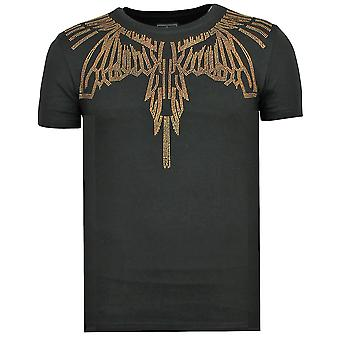 Eagle Glitter - Fun T-shirt - 6359Z - Svart