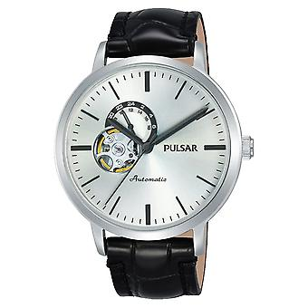Pulse business Automatic Analog Man orologio con Cowskin Bracelet P9A005X1