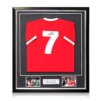 Kevin Keegan Signed Liverpool 1973 Number Seven Football Shirt.  Deluxe Frame