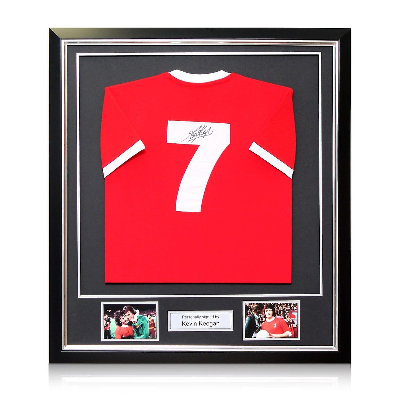 Kevin Keegan Signed Liverpool 1973 Number Seven Football Shirt. Framed