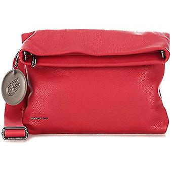 Mandarin Duck Mellow Leather Crossneck Red Woman Bag (Flame Scarlet) 21x15x6