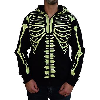 Banned Glow In Dark Skeleton Men's Hoodie