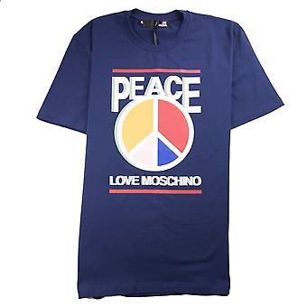 Love Moschino Paz Amor Camiseta Azul