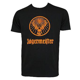 Jagermeister Orange Logo Men's Black T-Shirt