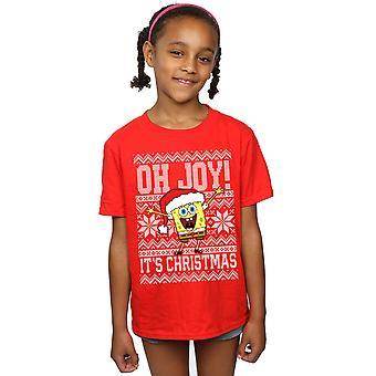 SpongeBob SquarePants Filles Oh Joy! T-Shirt de Noel