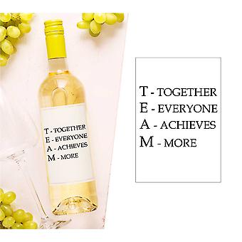 Team Together Everyone Achieves More Wine Bottle Label