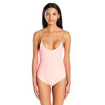 Lolli Women's Barbie Scoop Neck One Piece Swimsuit, Papaya,, Papaya, Size Large