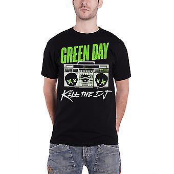 Green Day T Shirt Kill The DJ band logo Official Mens Black