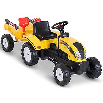 HOMCOM Pedal Go Kart Ride on Tractor w/ Shovel & Rake Four Wheels Child Toy