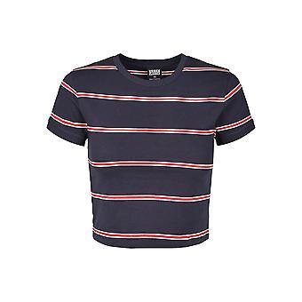 Urban Classics Women's T-Shirt Yarn Dyed Skate Stripe Cropped