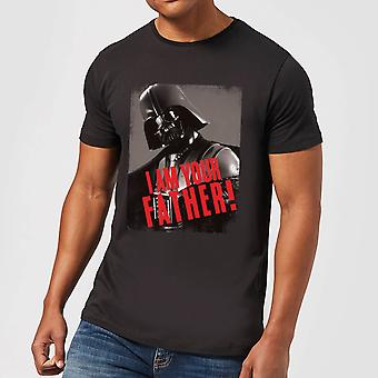 Star Wars Darth Vader I Am Your Father Gripping Men's Camiseta - Negro
