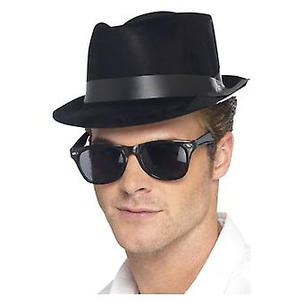 Mens gevlekt Fedora hoed Fancy Dress accessoire